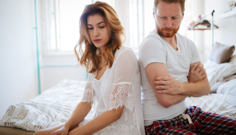 Unhappy married couple on verge of divorce due to impotence